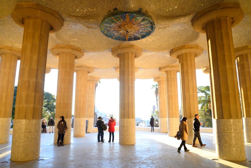 I着物で旅に出掛けよう。キモノバルセロナ グエル公園 パーソナルきものスタイリング