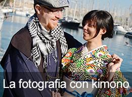La fotografia con kimono