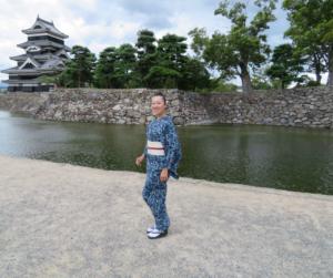 キモノワールドライフ ワードローブチェック 振袖 着物相談 長野 松本城 きもの旅行