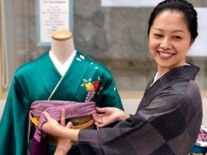 着付けレッスン 相模原 キモノワールドライフ 美容師のための振袖着付け特訓会 国家検定 『着付け技能士』実技試験対策