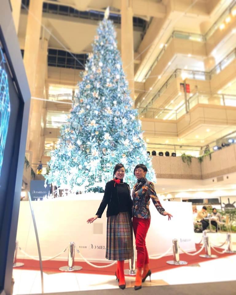 出張着付け横浜 パーソナル着物スタイリング クリスマスツリーと