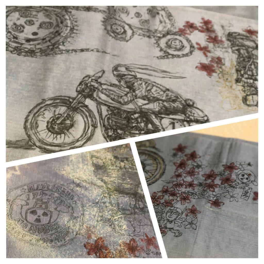 左手バイクアーティスト 手描き帯