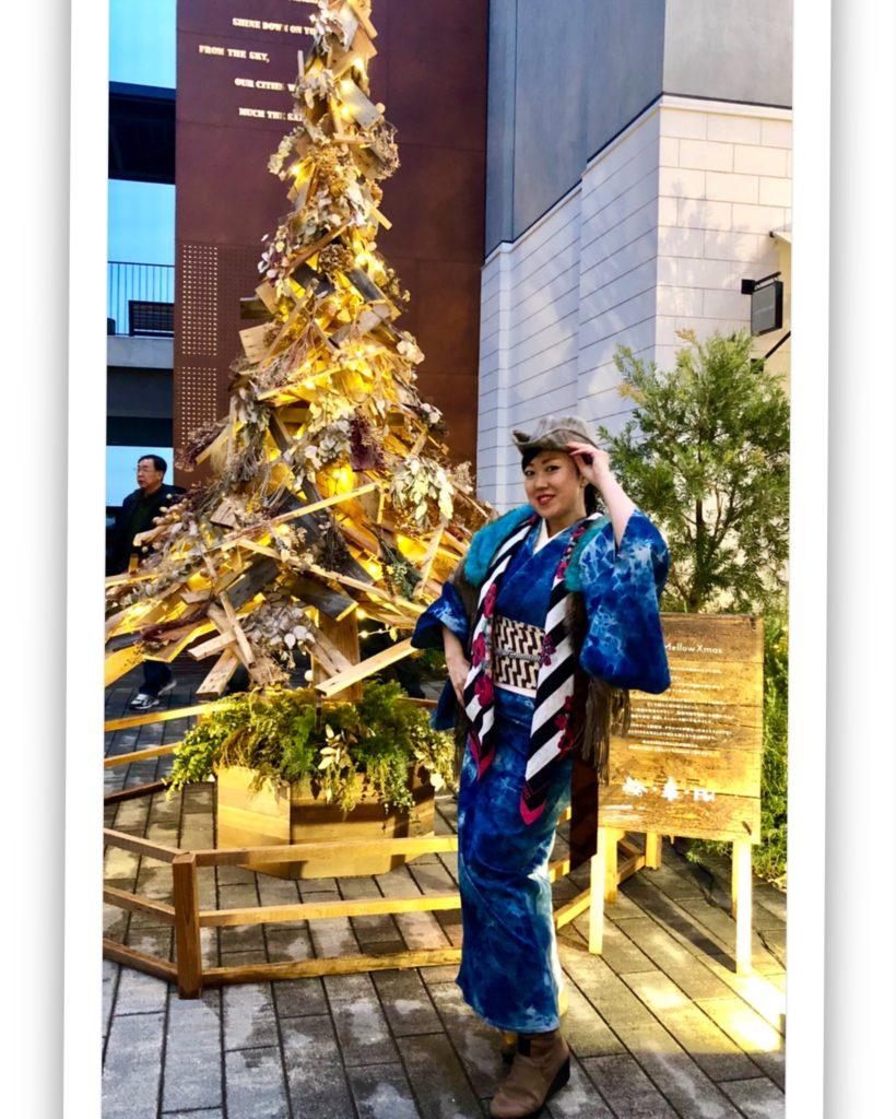 クリスマス着物 マリンアンドウオーク 齋藤優見