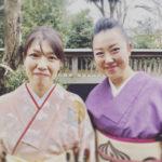 橋本小田原屋の女将さんと齋藤優見 入学式着物撮影