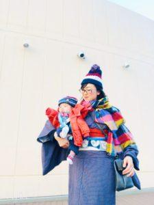 赤ちゃんと着物 親子コーデ 授乳着物 カジュアルきもの