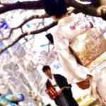 卒業式袴 桜撮影 出張着付け