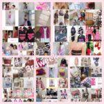 #装いカラーコーデ3rdweekピンク おうち着物を楽しむ