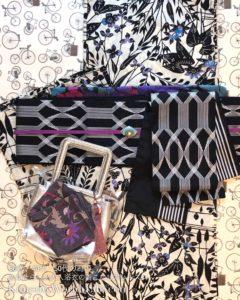 紫 装いカラーコーデ スタイリング浴衣セットレンタル 浴衣レッスン