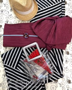 赤レッド 装いカラーコーデ スタイリング浴衣セット 浴衣レッスン