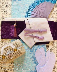 紫 装いカラーコーデ スタイリング浴衣セットレンタル 大人浴衣レッスン