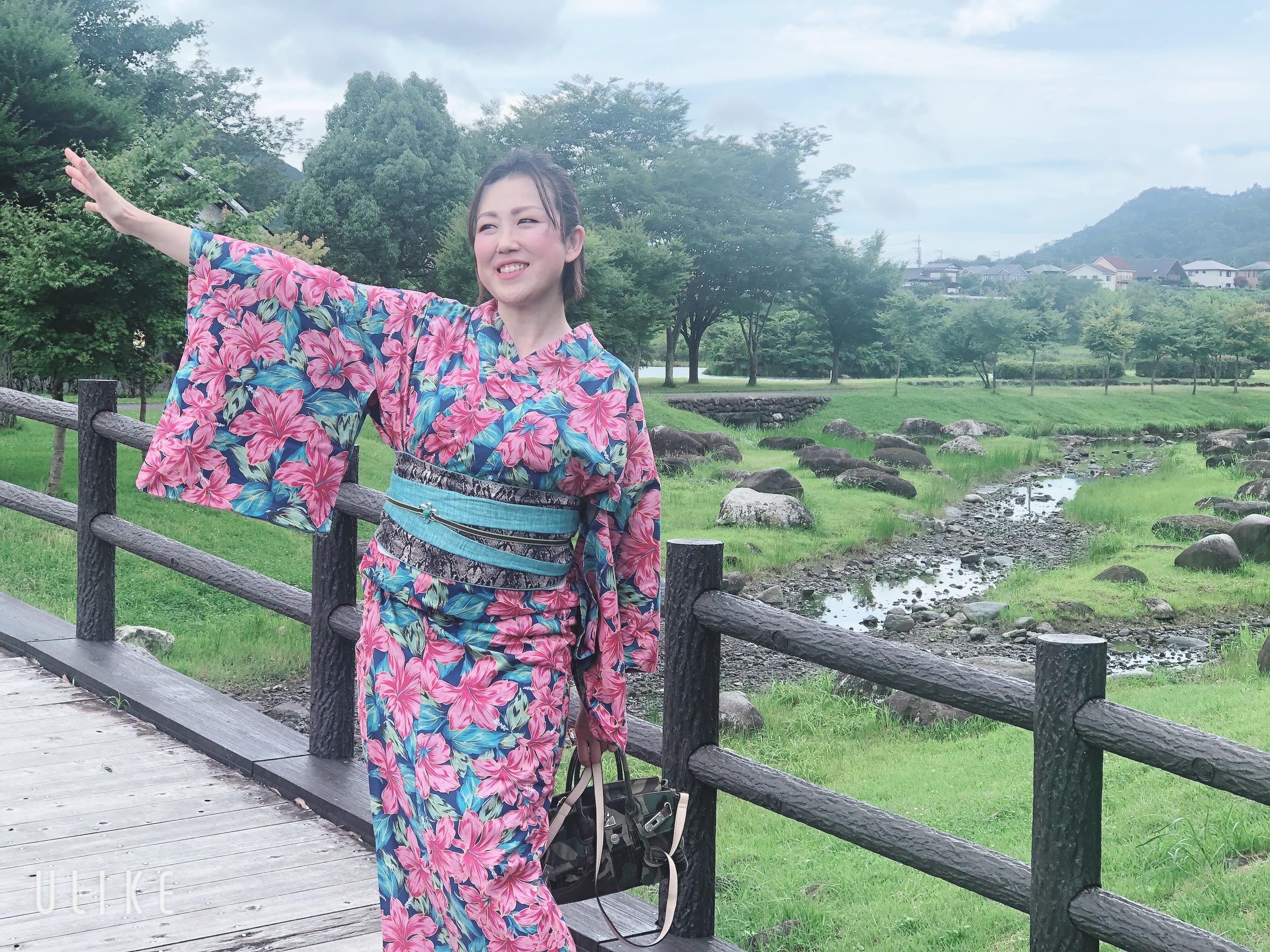 宮ヶ瀬 水の郷商店街 妄想浴衣コーデ 装いカラーコーデ パーソナル着物スタイリング