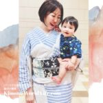 妄想浴衣コーデ 装いカラーコーデ パーソナル着物スタイリング 赤ちゃんと着物