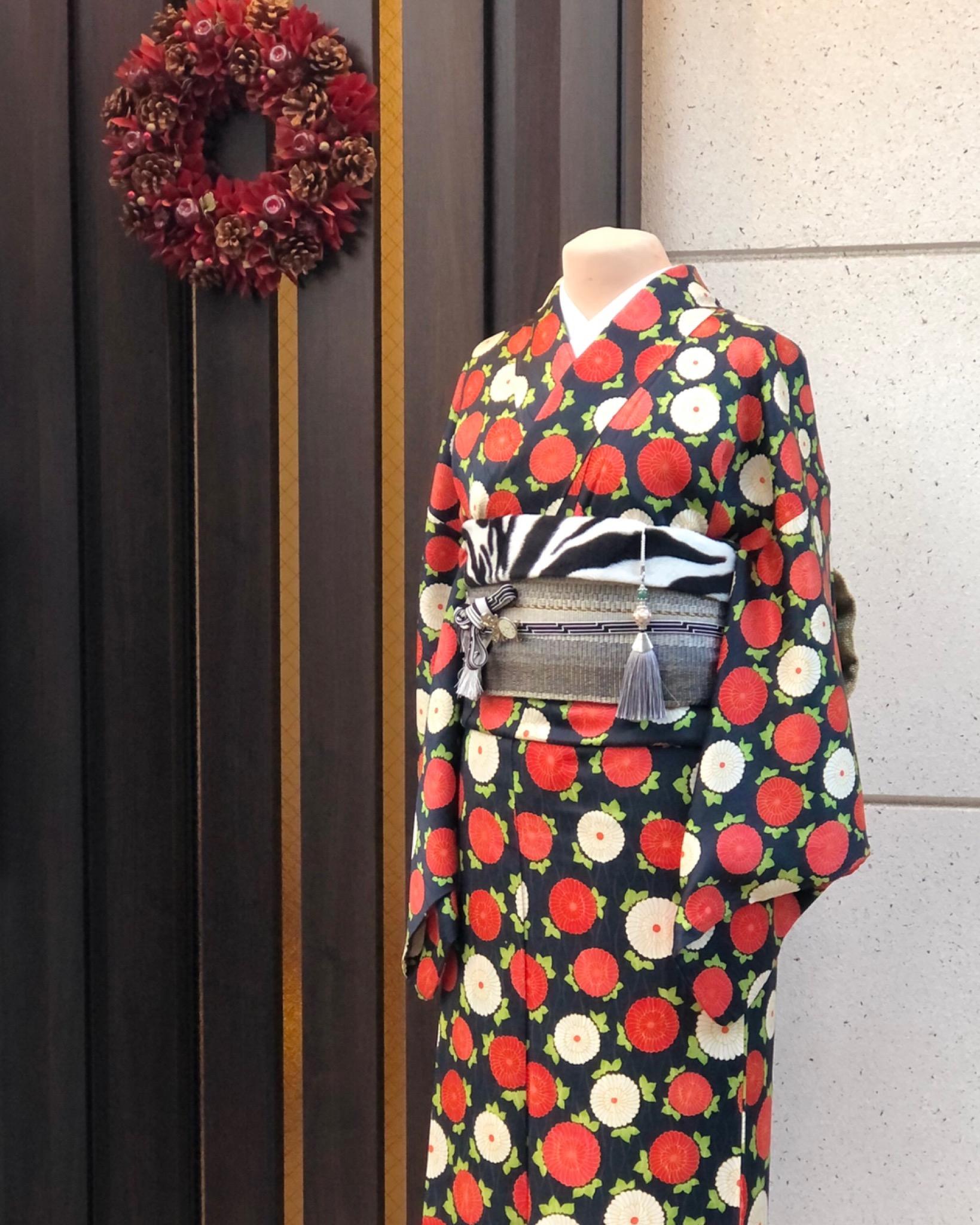 クリスマスコーデ パーソナル着物スタイリング 相模原市 着付け教室